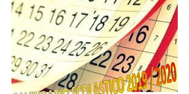 Calendario Fiscale 2020.Calendario Scolastico 2019 2020 Istituto Comprensivo